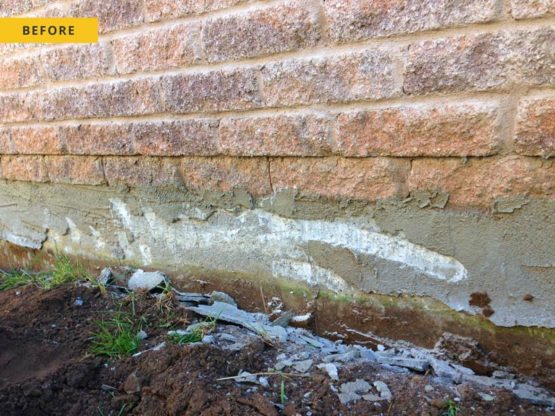 Foundation Parging - before