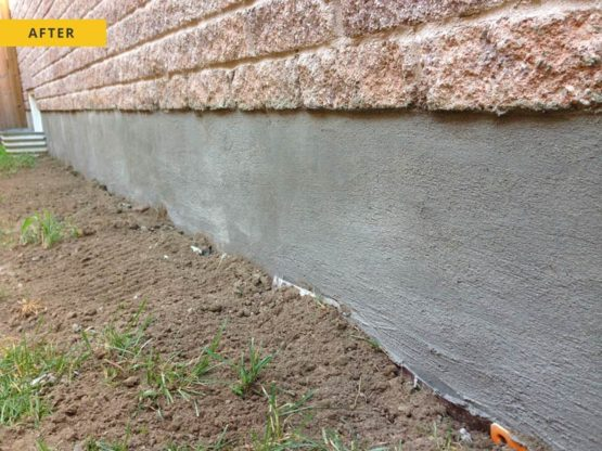 Foundation Parging - after