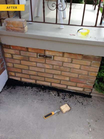 Brick facing – after