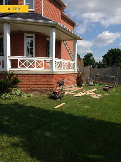 Concrete porch repair - after