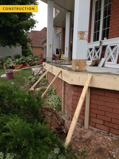 Concrete porch repair - under construction