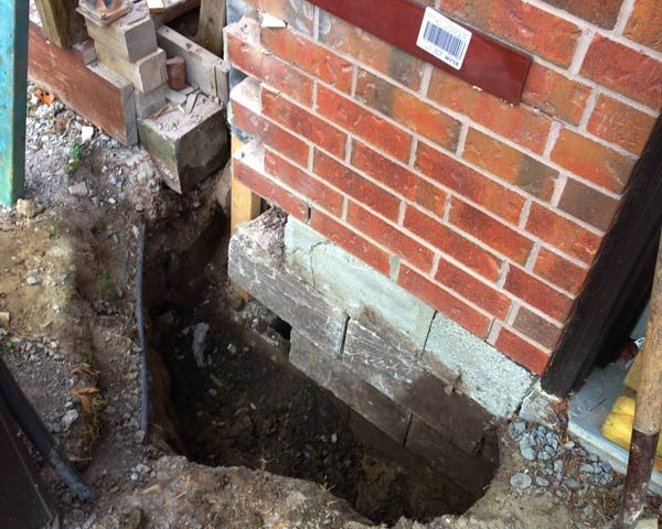Foundation and brick repair - construction