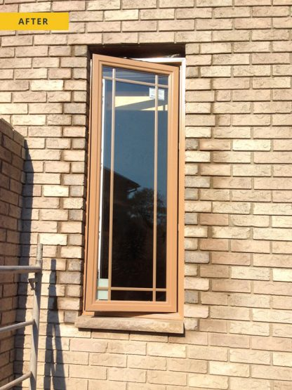 Window cut out - after