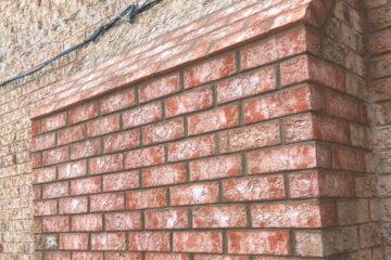 Gas fireplace exterior repair/reconstruction
