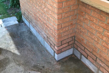 wall - underpinning, masonry project